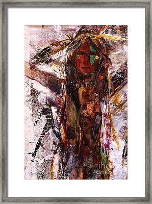 Naughty Lady Of Santa Fe Framed Print by Charles B Mitchell