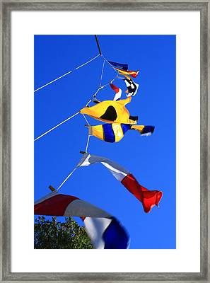 Nautical Flags Framed Print by Coby Cooper