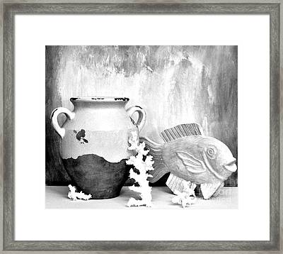 Nautical Picture Framed Print by Marsha Heiken