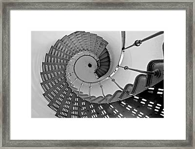 Nautilus Stairs Framed Print by Sandy Fisher