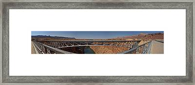 Navajo Bridge On Marble Canyon Framed Print by Gregory Scott