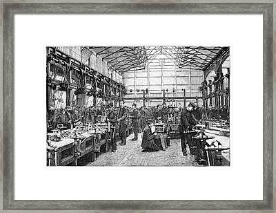 Naval Engineering School, 19th Century Framed Print by