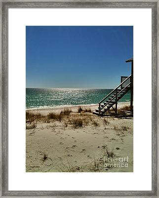 Framed Print featuring the photograph Navarre Beach by Janice Spivey