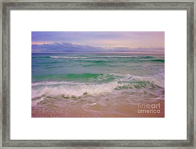 Framed Print featuring the photograph Navarre Sunset by Jeanne Forsythe