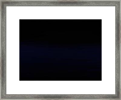 Navy Black Framed Print
