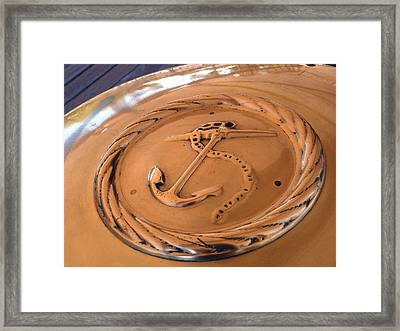 Navy Brass Framed Print