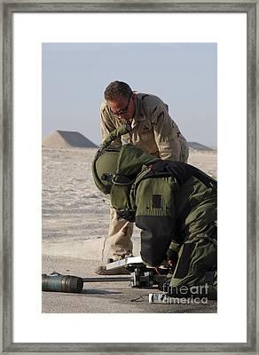 Navy Explosive Ordnance Disposal Mobile Framed Print