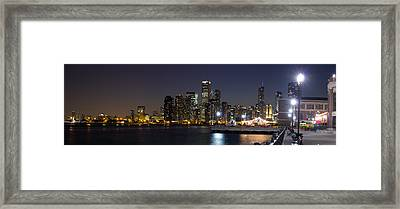 Navy Pier And Downtown Skyline Framed Print by Twenty Two North Photography