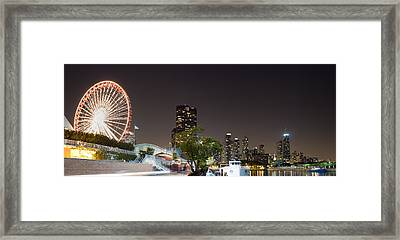 Navy Pier Chicago Illinois Framed Print by Twenty Two North Photography