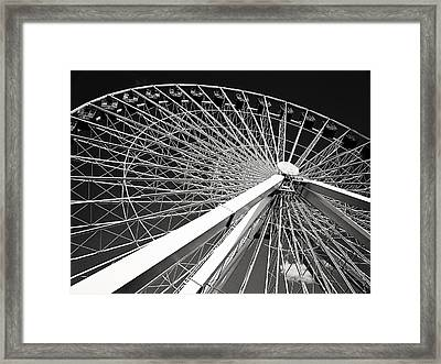 Navy Pier Ferris Wheel Framed Print