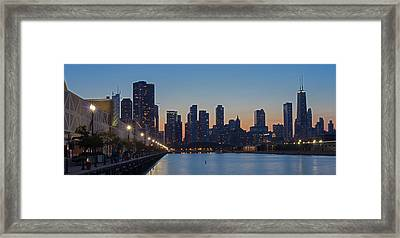 Navy Pier In Evening Framed Print by Twenty Two North Photography