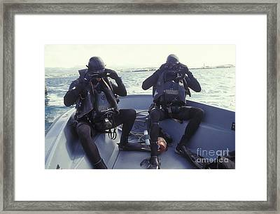 Navy Seals Combat Swimmers In A Utility Framed Print