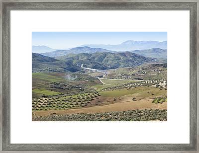 Near Casabermeja, Spain. Countryside. Framed Print by Ken Welsh