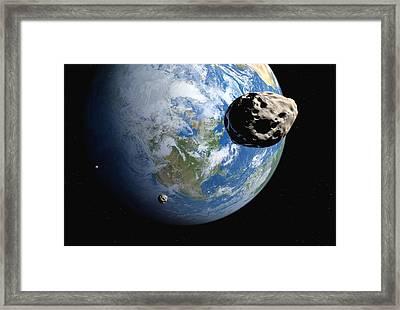 Near-earth Asteroids, Artwork Framed Print by Detlev Van Ravenswaay