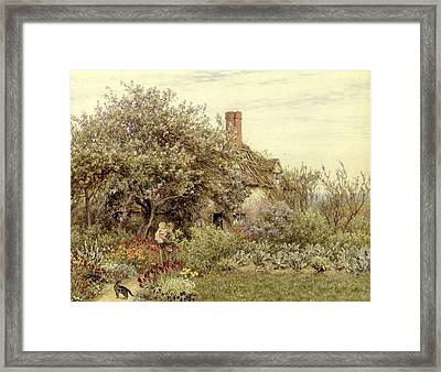 Near Hambledon Framed Print by Helen Allingham