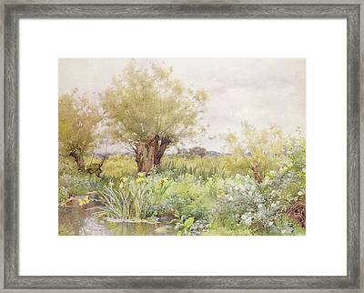 Near Shiplake Framed Print by Alfred Parsons