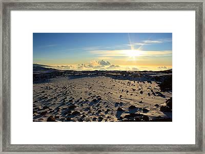 Framed Print featuring the photograph Nearing Mauna Kea Summit by Scott Rackers