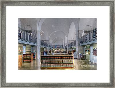 Framed Print featuring the photograph Nebraska State Capitol Library by Art Whitton