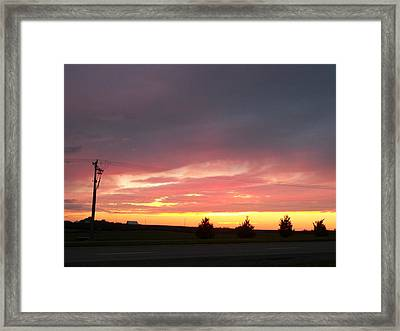 Nebraska Sunset Framed Print by Adam Cornelison