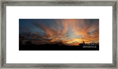 Framed Print featuring the photograph Nebraska Sunset by Art Whitton