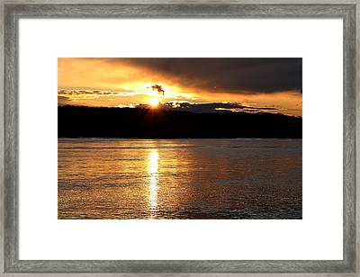 Framed Print featuring the photograph Nebraska Sunset by Elizabeth Winter