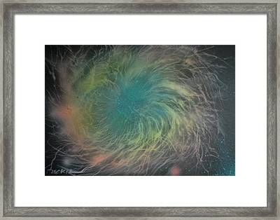 Nebula Abstract Framed Print by DC Decker