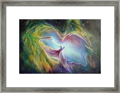 Nebula Framed Print by Leonard Franckowiak