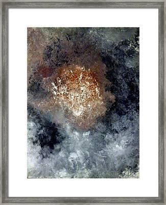 Nebula Framed Print by Montserrat Lopez Ortiz