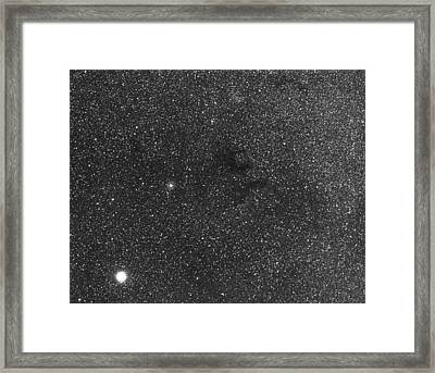 Nebula Near The Bright Star Altair Framed Print by John Sanford