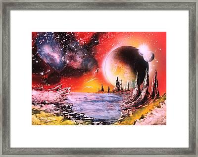 Nebula Storm Framed Print by Tony Vegas