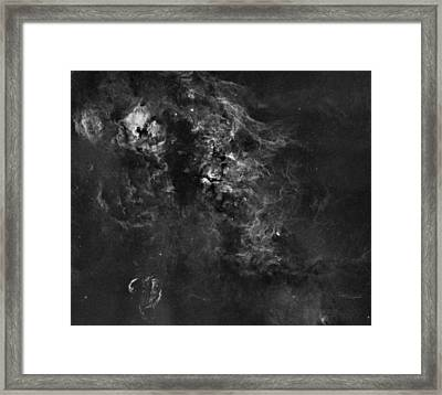Nebulosity In The Cygnus Constellation Framed Print by Andre Van der Hoeven