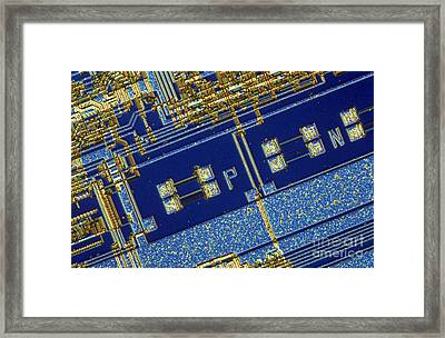 Nec 8088 Microprocessor Framed Print