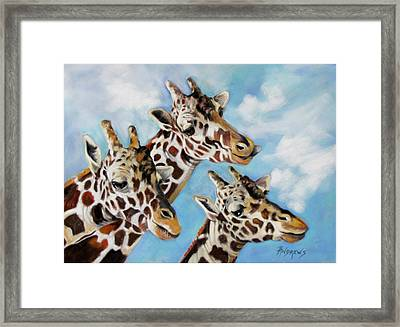 Framed Print featuring the painting Neck And Neck by Rae Andrews