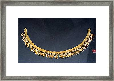 Spear-heads Necklace  Framed Print by Andonis Katanos