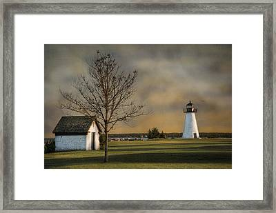 Ned's Point Light Framed Print
