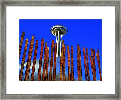 Needle In A Haystack Framed Print by Randall Weidner