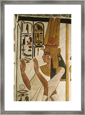Nefertari Tomb Scenes, Valley Framed Print by Kenneth Garrett