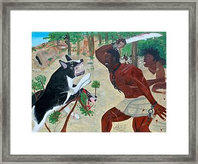 Neg Mawon Haiti 1791 Framed Print by Nicole Jean-Louis