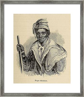 Negro Abraham Was An African Seminole Framed Print by Everett