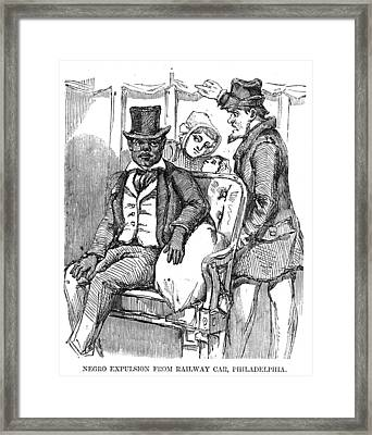 Negro Expulsion From Railway Car Framed Print by Everett