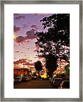 Neighborhood Silhouette  Framed Print by D Wash