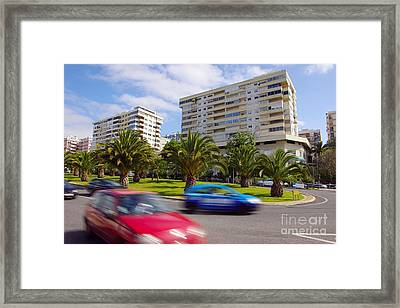 Neighborhood Unrest Framed Print