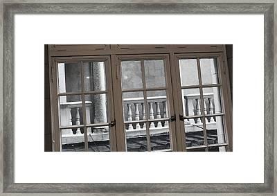Neighbors Baluster Framed Print