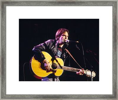Neil Young 1986 Framed Print by Chris Walter