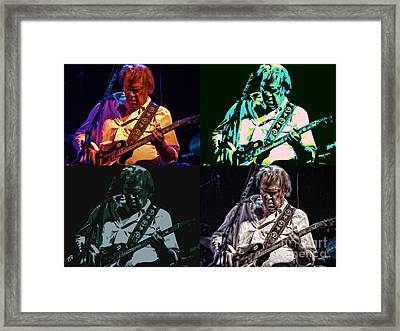 Neil Young Pop Framed Print by Tommy Anderson