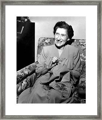 Nelle Reagan, Ronald Reagans Mother Framed Print by Everett