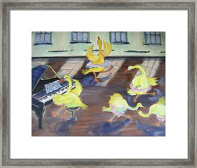 Nellie Takes Ballet...again Framed Print by Holly Stone