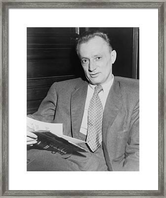 Nelson Algren 1909-1981, Holding Copy Framed Print by Everett