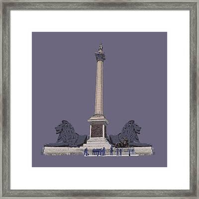 Nelson's Column, Trafalgar Square, London Framed Print by Simon Carter