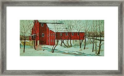 Nelsonville Mill Framed Print by Carolyn Rosenberger